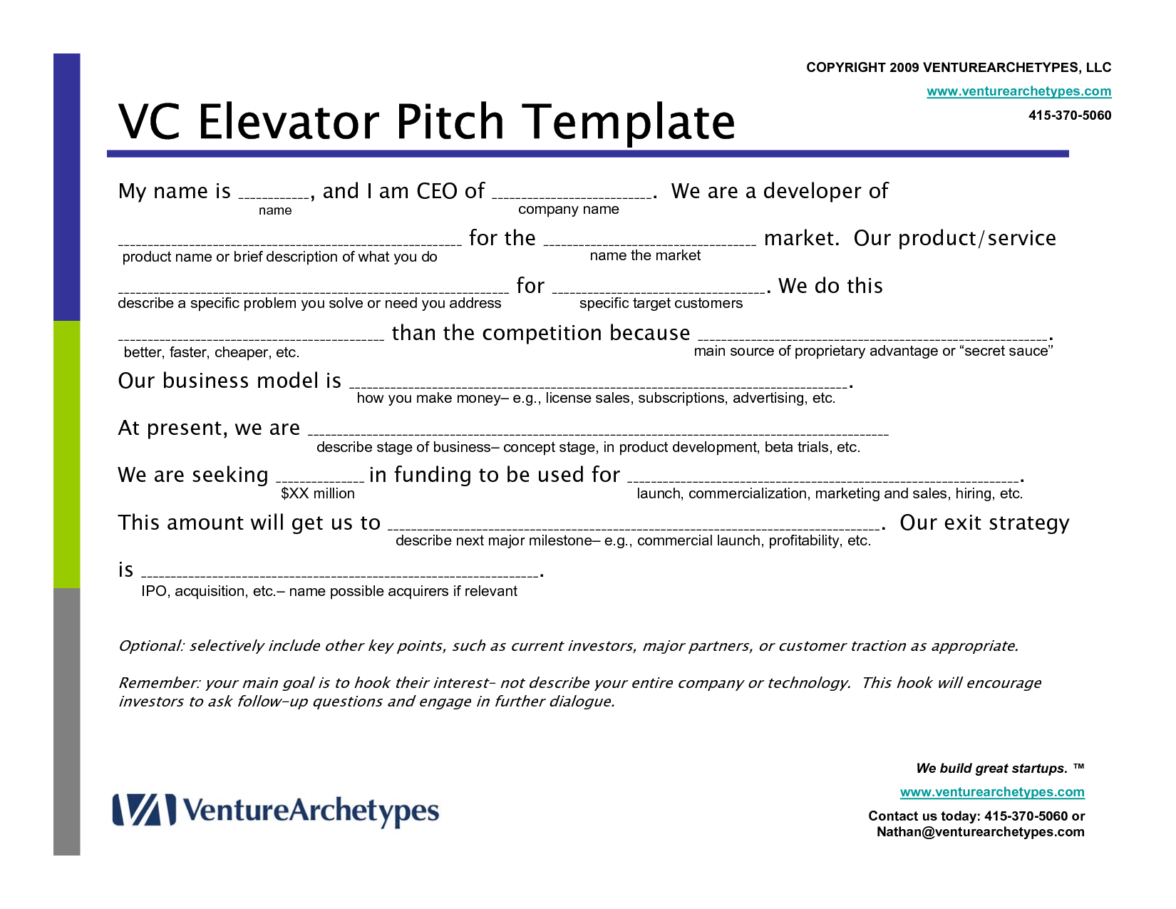 Make An Elevator Pitch You're Actually Proud
