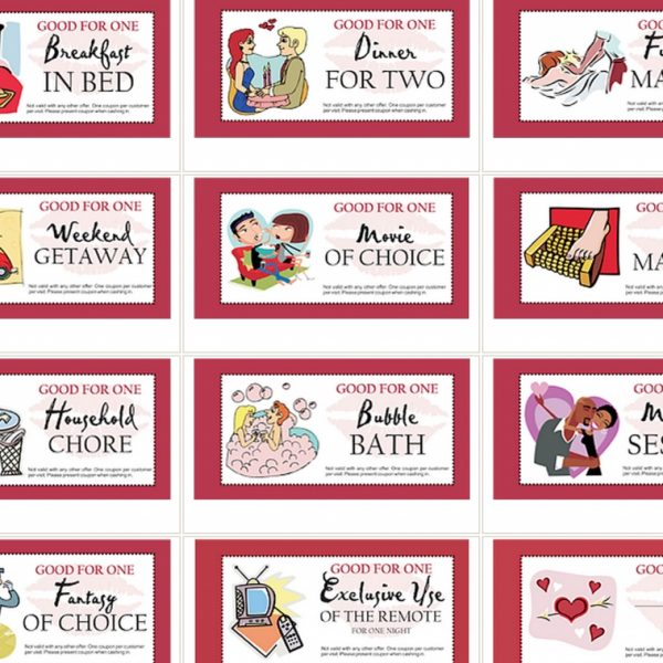 personal coupon book ideas