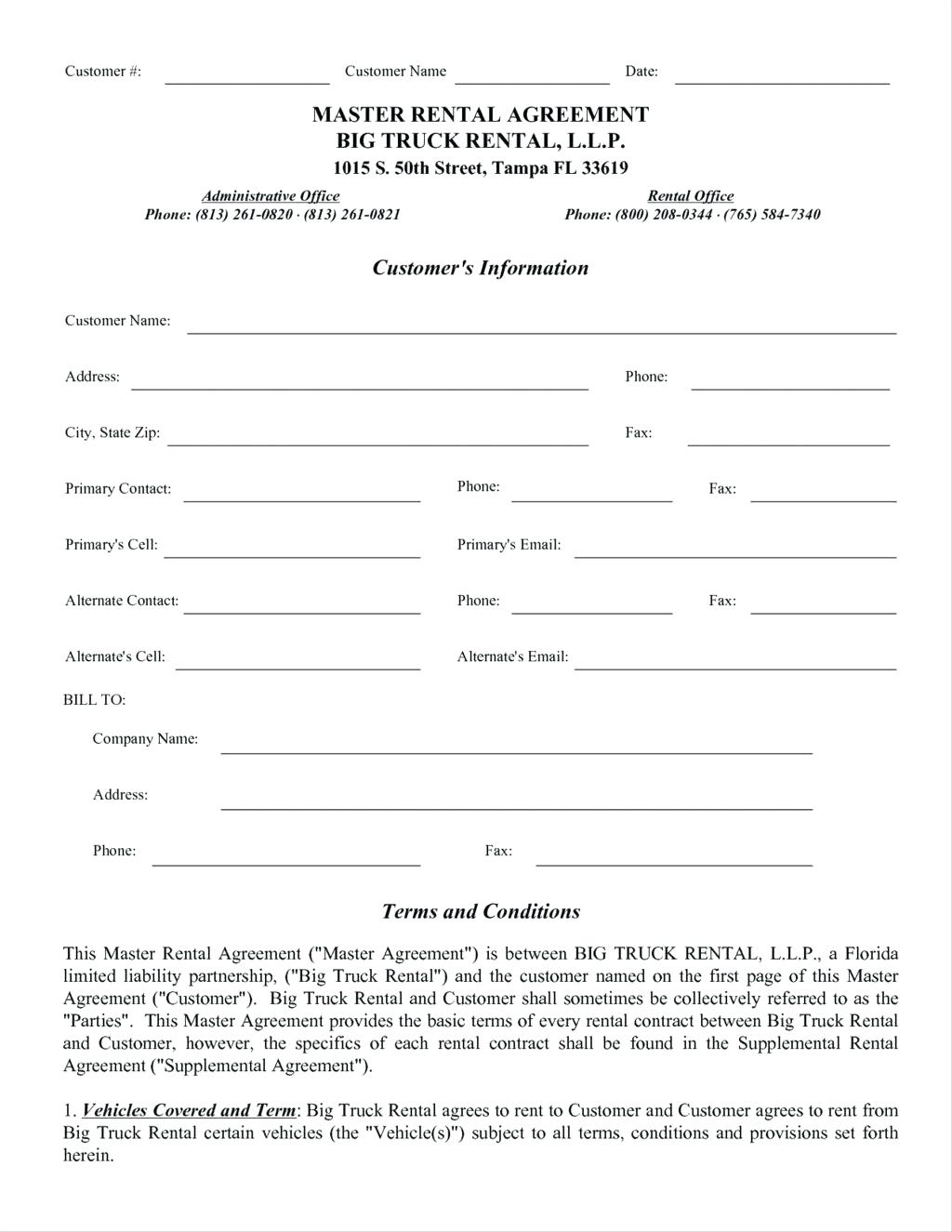 Truck Lease Agreement Pdf