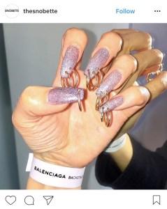 pierced nail