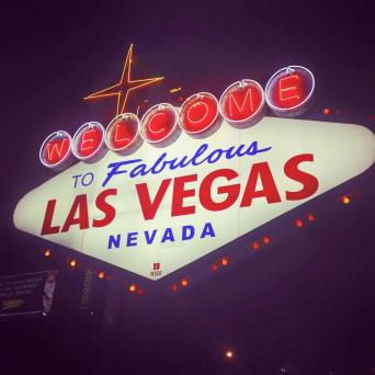 In the middle of the night we made it to Vegas. We did a quick drive through and were in awe at all of the lights.