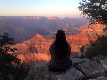 The first time I've ever been to the Grand Canyon, and I caught it at sunset. Magical moment.
