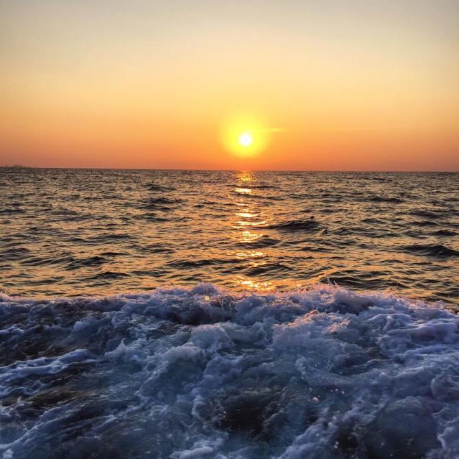 I took this in the early morning on an all-day deep sea fishing trip in the Gulf of Mexico.
