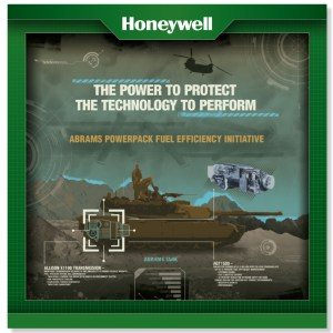 HONEYWELL defense trade show poster military