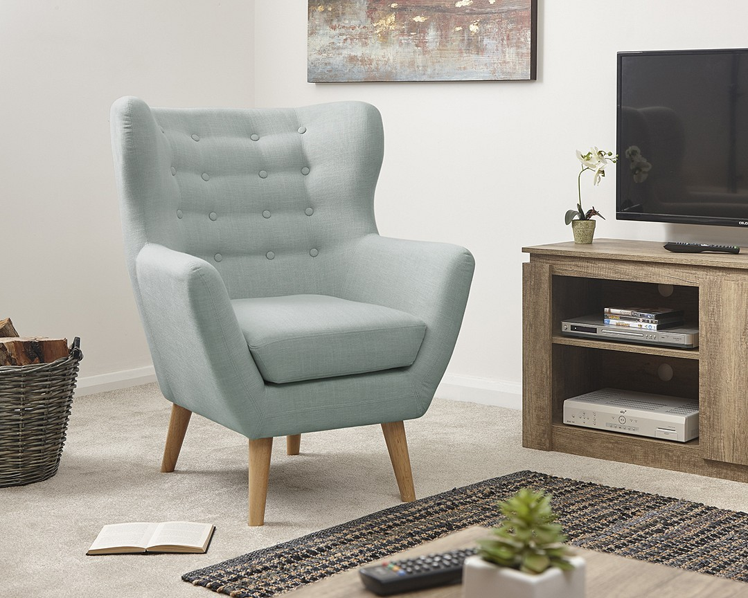 Modern Wing Chair Stanley Modern Buttoned Wing Chair Brixton Beds