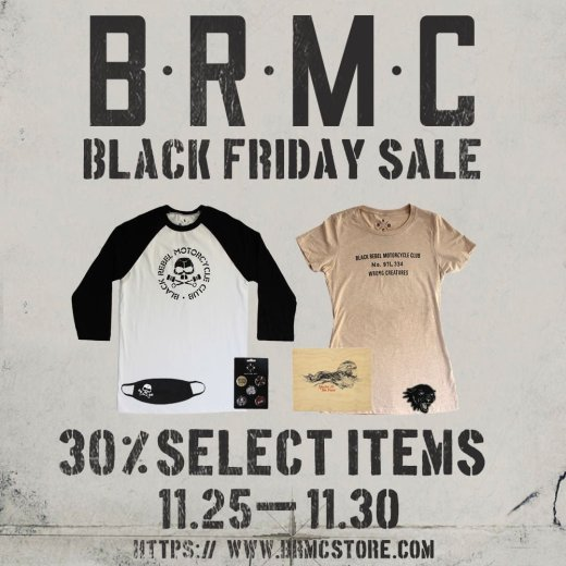 BRMC Black Friday sale: 30% off starting 11/25 – 11/30 2