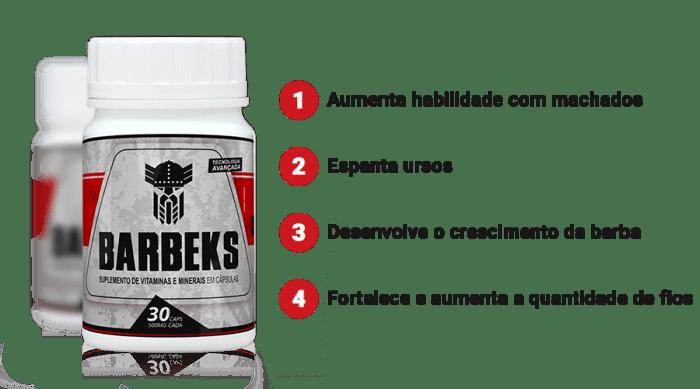 Beneficio do Barbeks - Tenha uma barba de lenhador