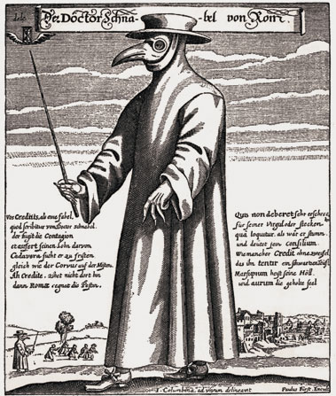 plague hat from the middle ages