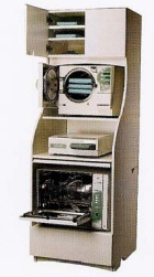 Hydrim Washer and Statim and Bravo Sterilization organization with sterile storage above