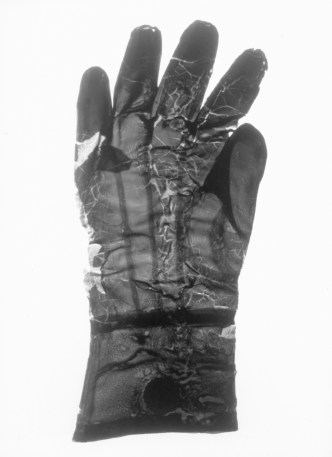 old laytex glove