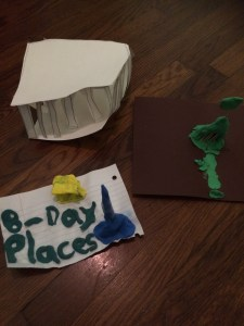Jayla's Parthenon and Eiffel Tower.