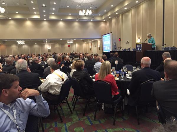 Kentucky Lt. Gov. Crit Luallen speaking at Broadband Communities conference in Lexington.