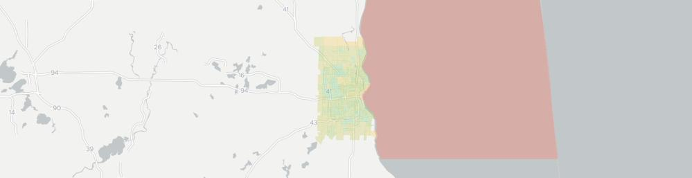 medium resolution of internet provider competition map for milwaukee