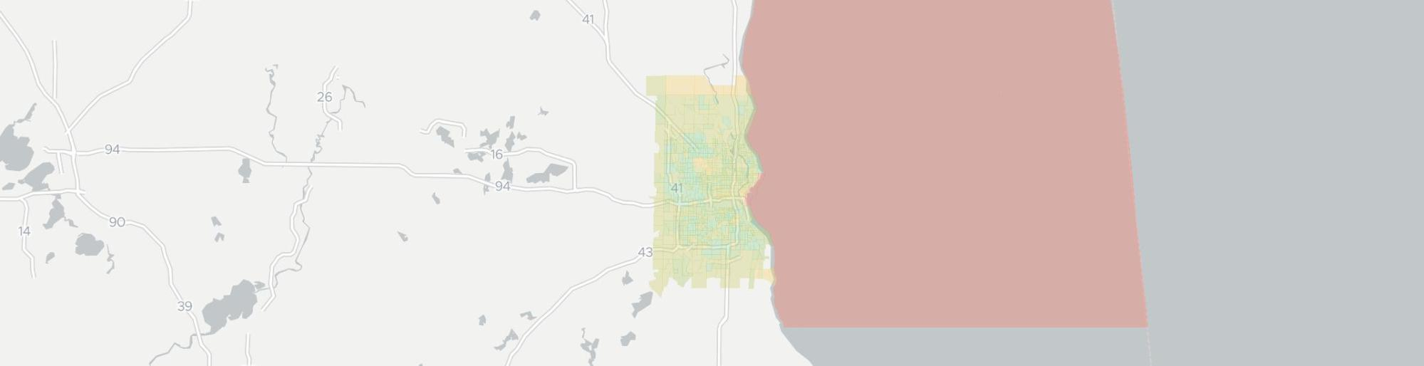 hight resolution of internet provider competition map for milwaukee