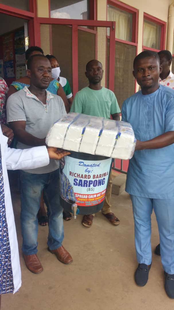 NHIA Communications Officer Donates PPEs To Afigya Sekyere East Constituency