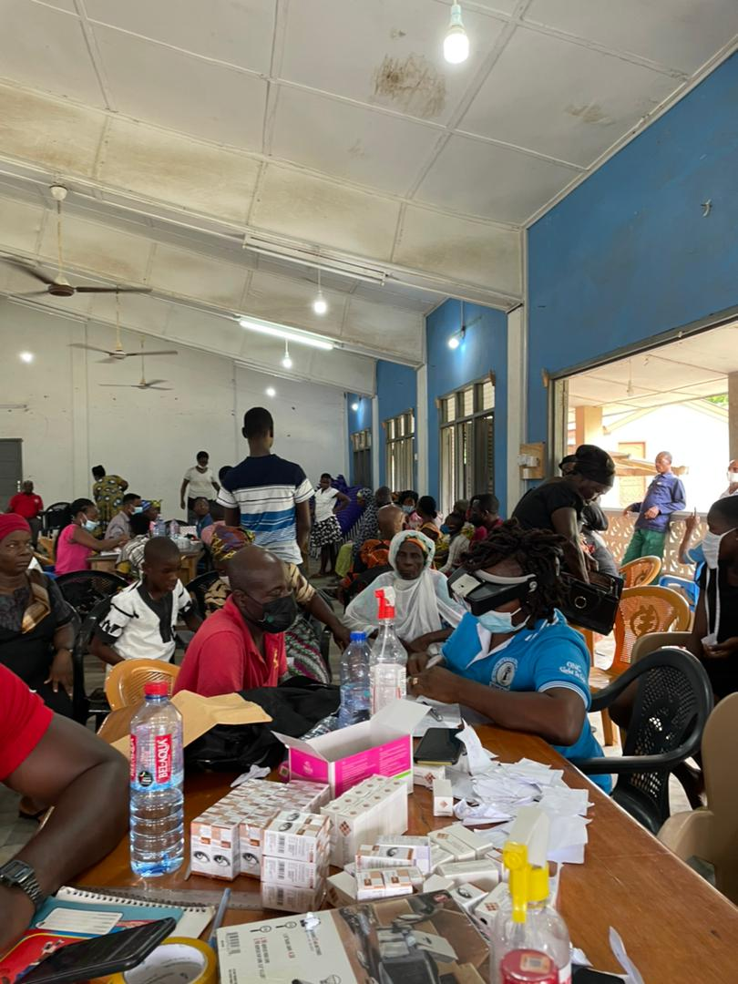 Central Tongu MP task Ghanaians to prioritize regular check up… As he embarks on eyes screening exercise for constituents
