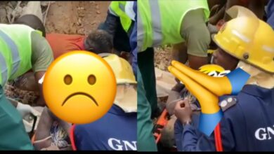 See The SAD Moment a Woman Was Rescued From Collapsed Church Building At Akyem Batabi -[WATCH VIDEO]