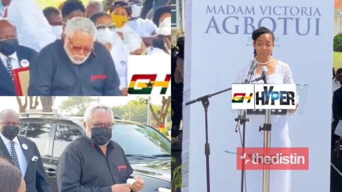 See The Emotional Moment JJ Rawlings Was Unable To Read His Tribute At His Mother's Funeral -[WATCH VIDEO]