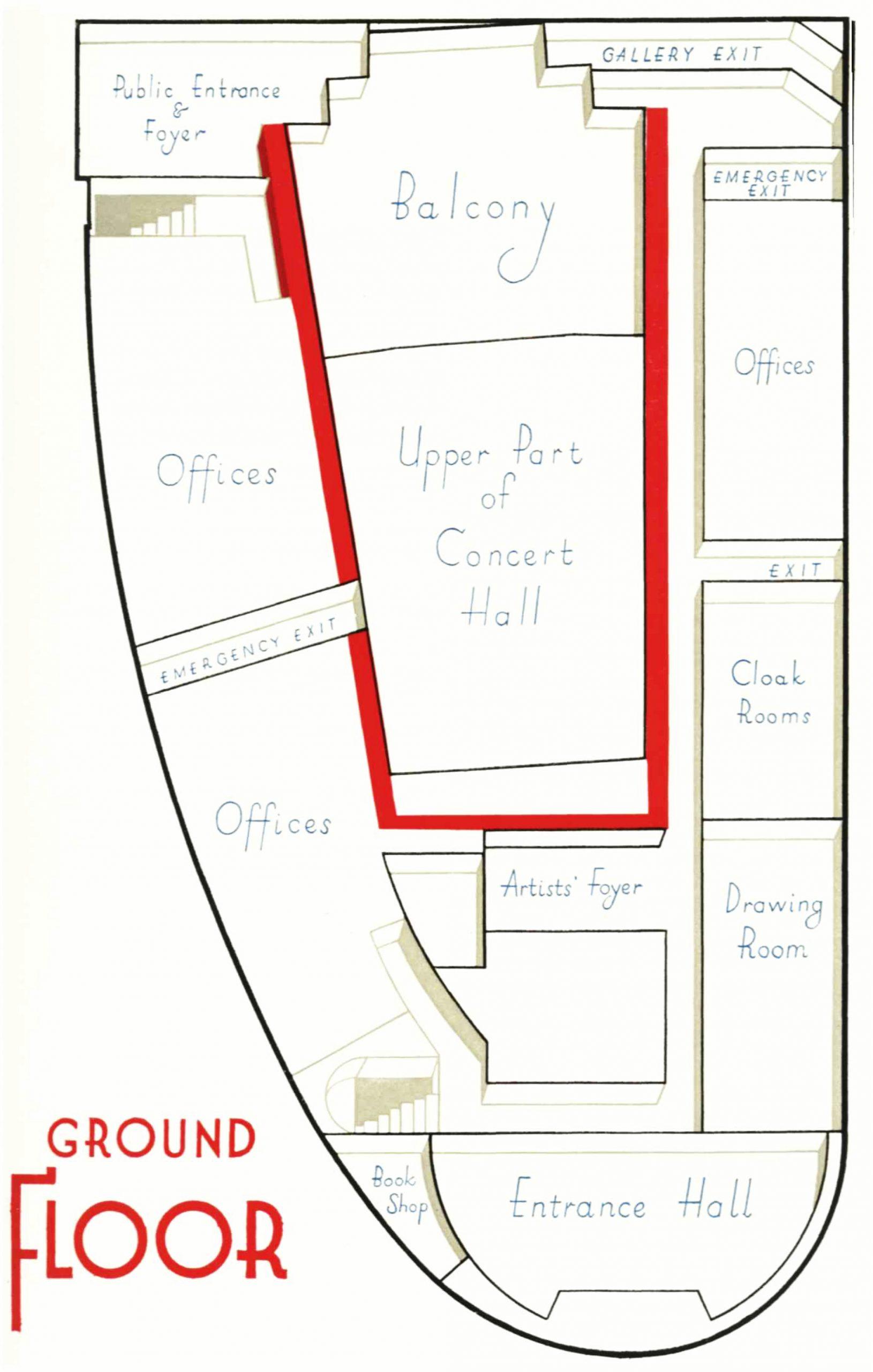Diagram of the ground floor