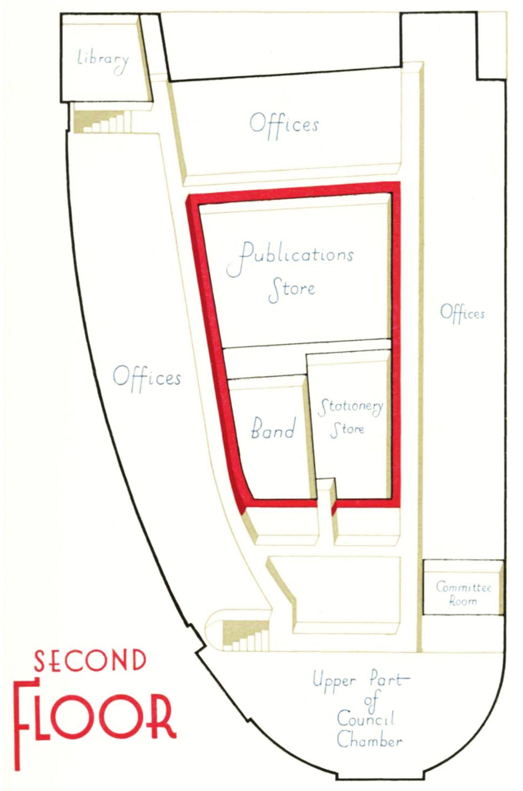 Diagram of second floor