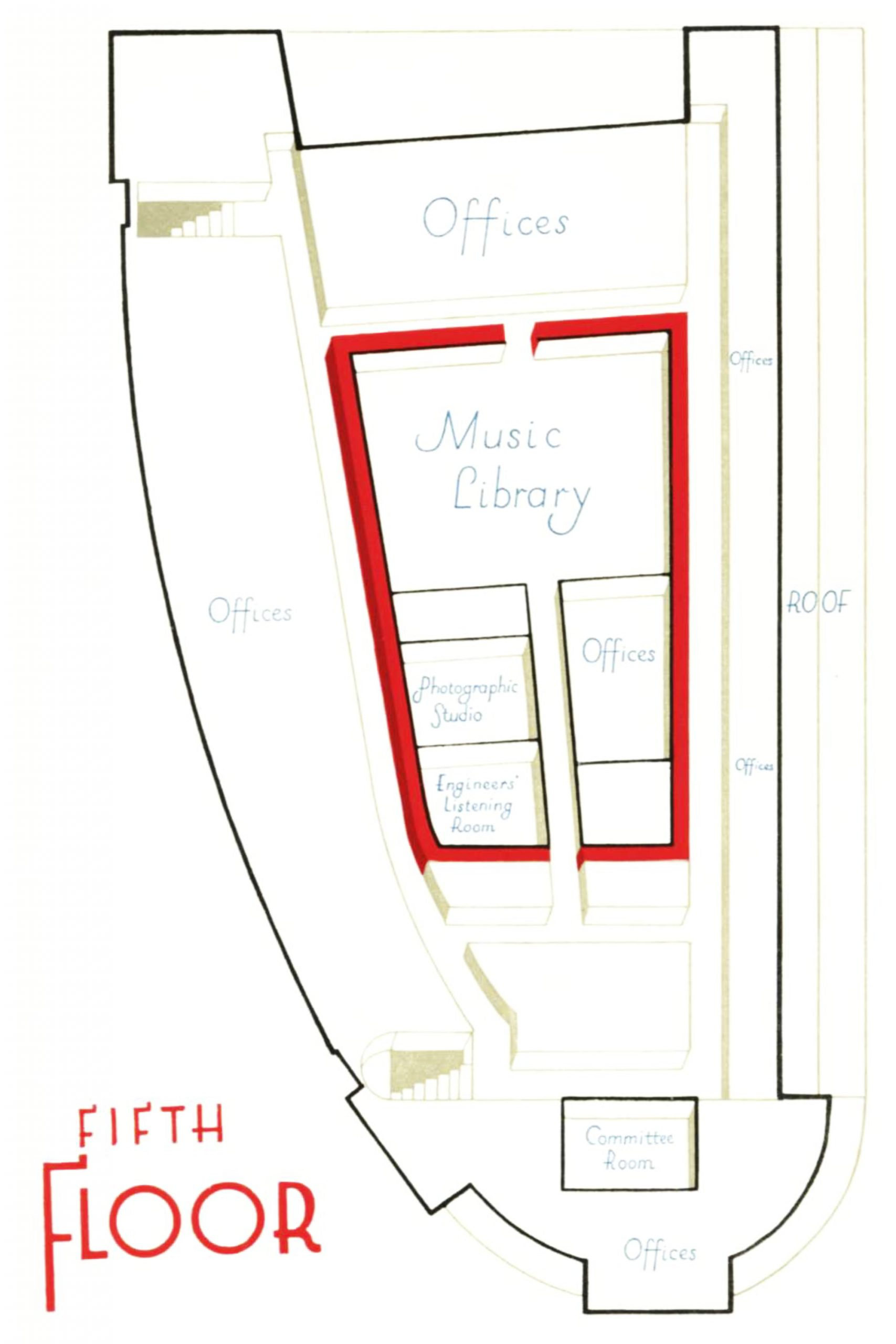 Diagram of the fifth floor