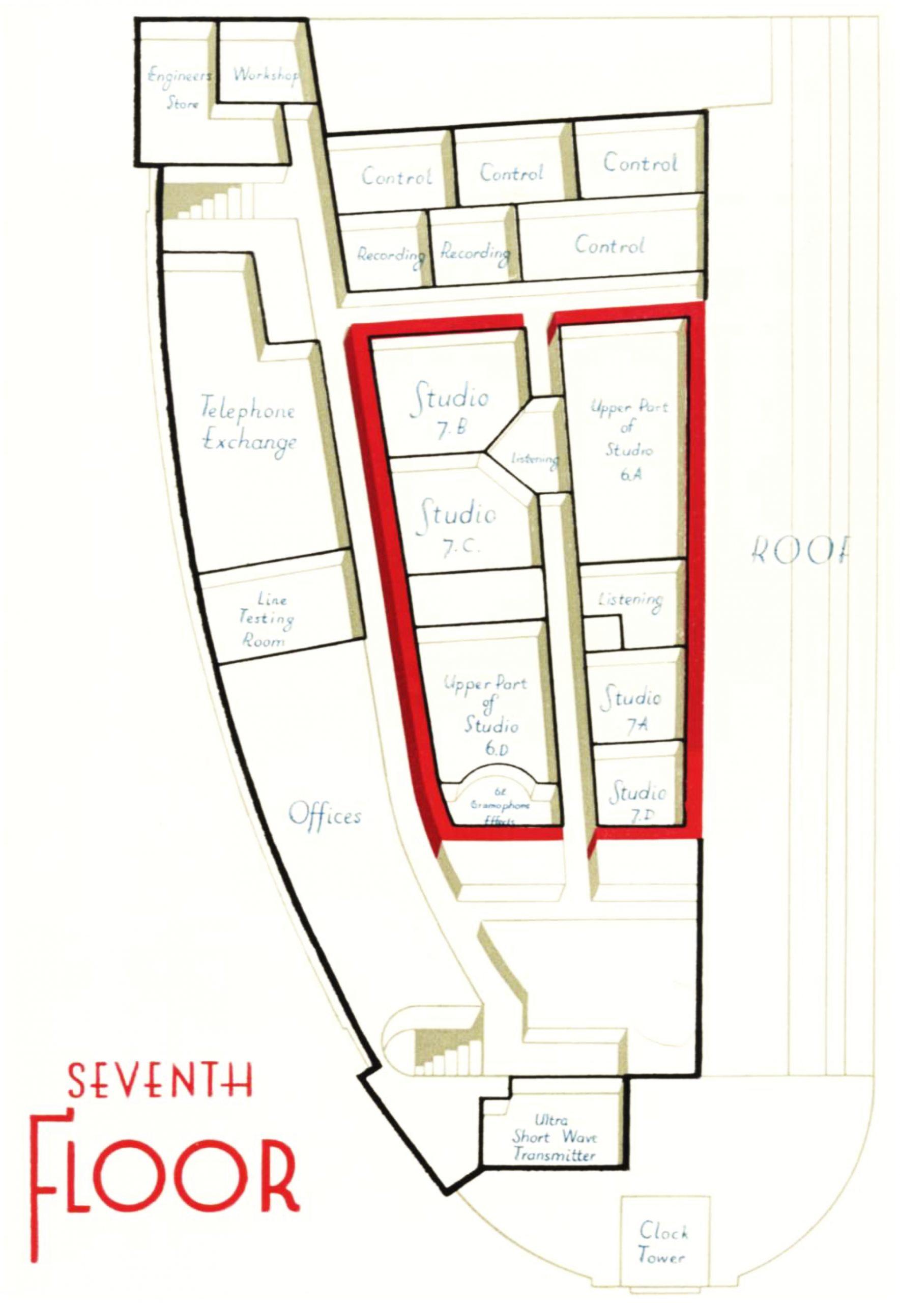 Diagram of the 7th floor
