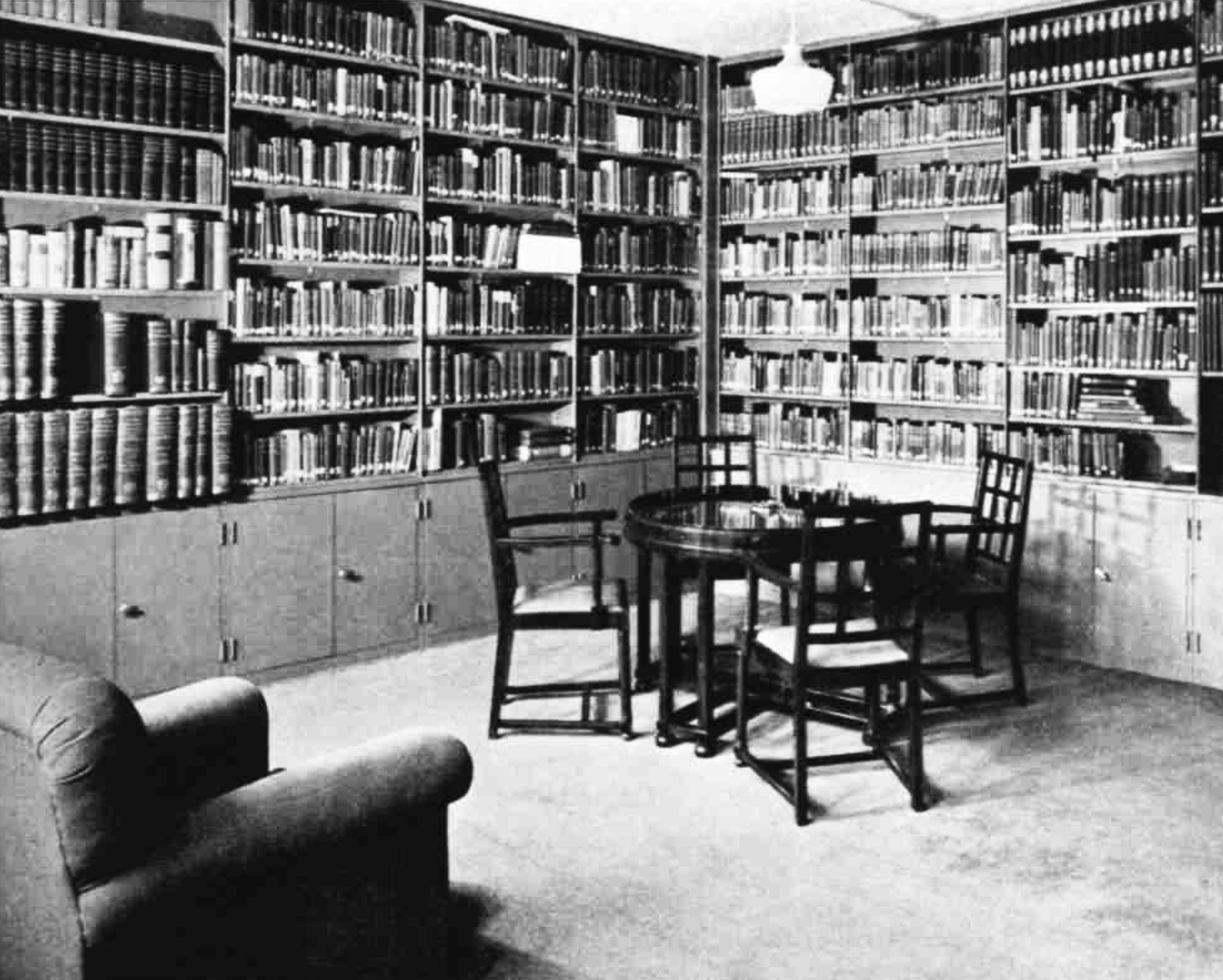 A room filled with books