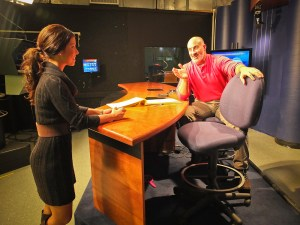 Jim Cantore Spends A Day With Lyndon State Meteorologists  The Broadcast Meteorologist