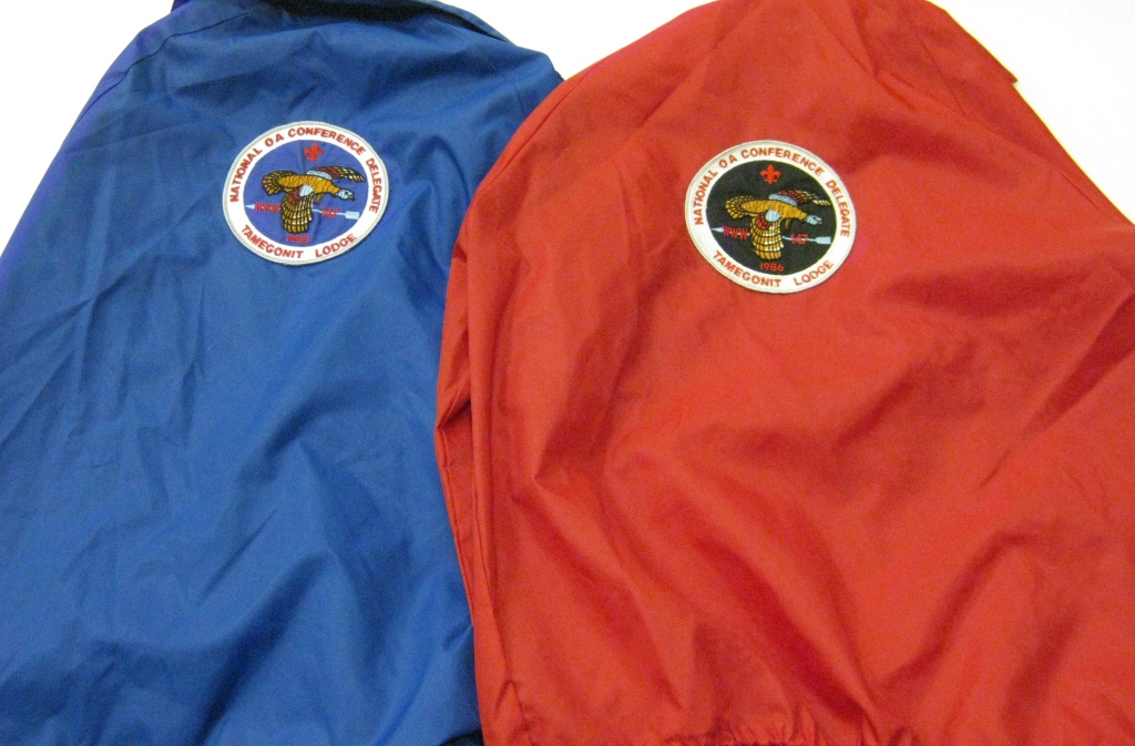 NOAC back patches sewn to contingent jackets