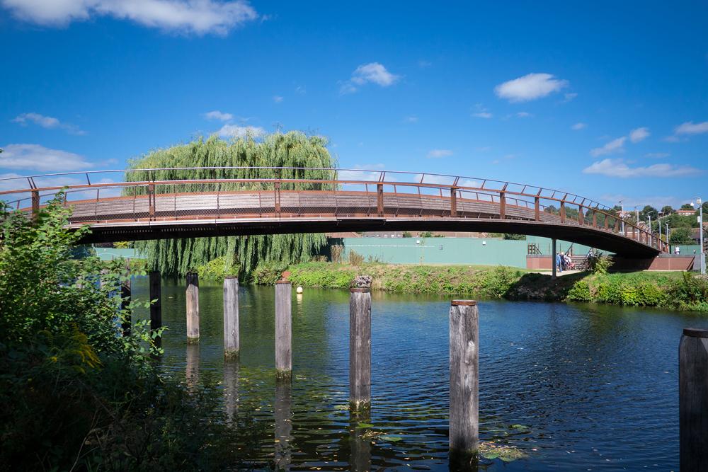 footbridge over the river wensum-by-glenn-wood