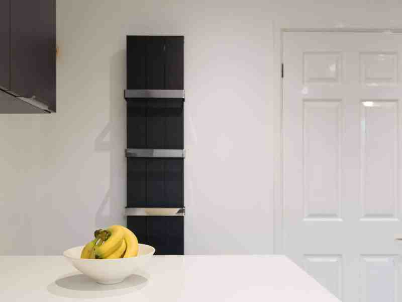 Second Nature, Porter, Quartz, Quick-step, white metro tiles, breakfast bar, decorative Radiator
