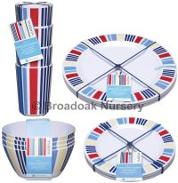 Marina Nautical Melamine Tableware Picnic Camping