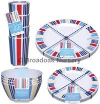 Marina Nautical Melamine Tableware Picnic Camping ...