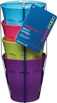 Colourworks Melamine Tableware Dinnerware Party Picnic Camping