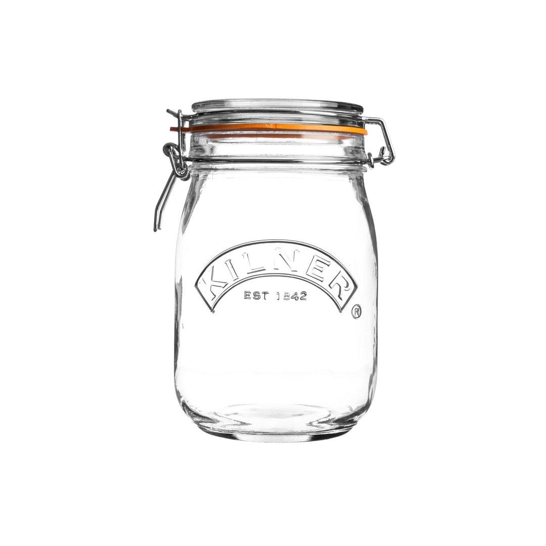 Kilner Clip Top Jar 1 Litre for Jams Pickles Preserves