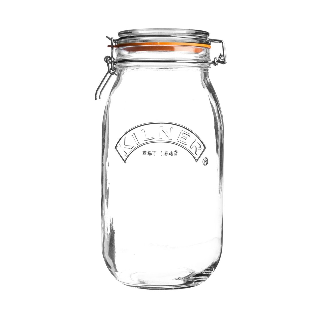 Kilner Clip Top Jar 3 Litre for Jams Pickles Preserves