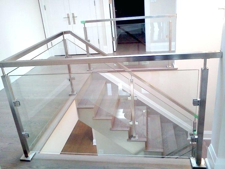 Stainless Steel Glass Stair Railing How To Measure The | Steel Railing With Glass For Stairs