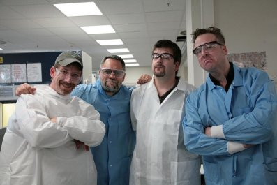 Doctors Mowder, Alma, Harrell, and Steckley (all cartoonists)