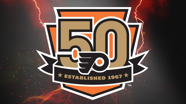 Flyers 50th Anniversary Logo