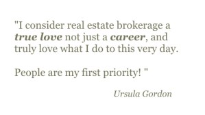 Ursula Gordon Quote