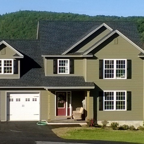 Finished home on Arrowcrest Drive.