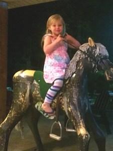 Riding a Merry-Go-Round Horse!