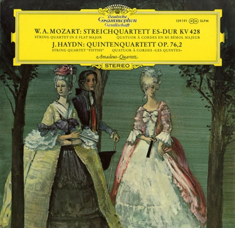 DE DGG SLPM139 191 アマデウスSQ モーツァルト&ハイドン・弦楽四重奏曲