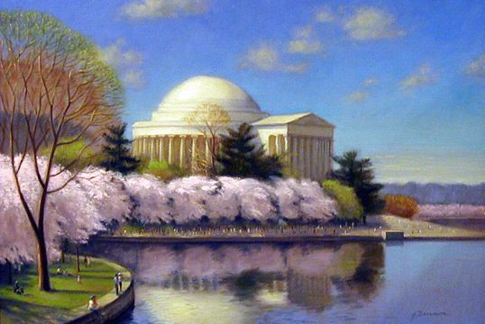 bannon jefferson memorial cherry blossoms