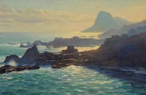 Bradley Stevens - Kahakuloa Mist, 24x36, Oil on Linen