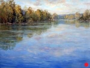 Christine Lashley Blue Waters Potomac 24x36 Oil on Canvas
