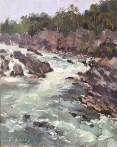"""""""Great Falls #5"""", 10"""" x 8"""", Oil on Canvas"""