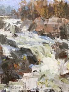 Christine Lashley Great Falls Layers 8x6 Oil on Panel