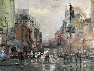 Christine Lashley Near Dupont Circle 16x12 Oil on Canvas 1