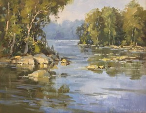 Christine Lashley Potomac River 11x14 Oil on Panel 1500 UF 1